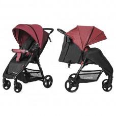 Прогулочная коляска Carrello CRL-1414/1 Maestro Strawberry Red, лен, красный