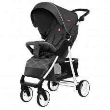 Прогулочная коляска Carrello CRL-8502/2 Quattro Metal Gray, лен, темно-серый