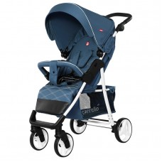 Прогулочная коляска Carrello CRL-8502/2 Quattro Navy Blue, лен, синий