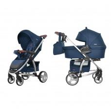 Универсальная коляска 2 в 1 Carrello Vista CRL-6501 Denim Blue, синий