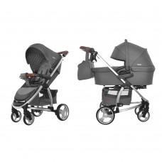 Универсальная коляска 2 в 1 Carrello Vista CRL-6501 Steel Gray, темно-серый