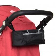 Сумка-органайзер ME 1063 универсальная, для коляски, 31-11-11см, крепления на липучках, 1 наружн.карман, 1внутр.карман застежка-молния, 2 отделения для бутылочек, в корке