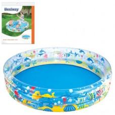 Надувной бассейн детский Bestway 51004 Подводный мир, 152 х 30 см