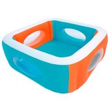Надувной бассейн детский Bestway 51132, 168 х 168 см, оранжево-голубой