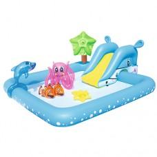 Надувной бассейн детский Bestway 53052 Аквариум, 239 х 206 х 86 см, голубой