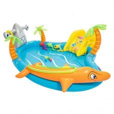 Надувной бассейн детский Bestway 53067 Морская жизнь, 280 x 257 x 87 см, голубой
