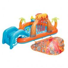 Надувной бассейн детский Bestway 53069 Лагуна, 265 х 265 х 104 см, оранжево-голубой