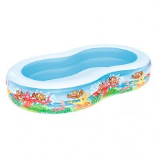 Надувной бассейн детский Bestway 54118 Подводный мир, 262 х 157 х 46 см, голубой