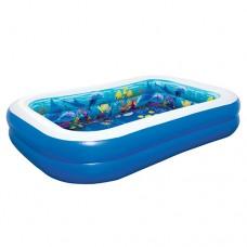 Надувной бассейн детский Bestway 54177 Подводный мир, 262 х 175 х 51 см, синий