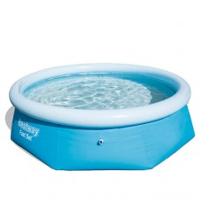 Надувной бассейн семейный Bestway 57265, 244 х 66 см, круглый, голубой