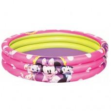 Надувной бассейн детский Bestway 91066 Минни Маус , 152 х 30 см, розовый