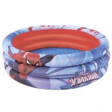 Надувной бассейн детский Bestway 98018 Человек-Паук, 122 х 30 см, красно-синий