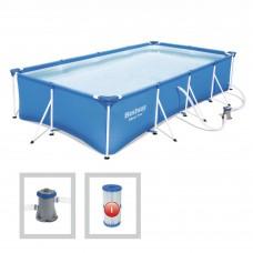 Каркасный бассейн Bestway 56424, 400 х 211 х 81 см, синий