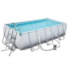 Каркасный бассейн Bestway 56441, 404 x 201 x 100 см, серый