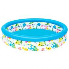 Надувной бассейн детский Bestway 51009 Рыбки, 122 х 25 см, голубой