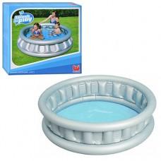 Надувной бассейн детский Bestway 51080 Летающая тарелка, 152 х 43 см, серый