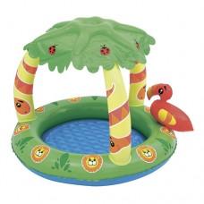 Надувной бассейн детский Bestway 52179 Джунгли, 99 х 91 х 71 см, зеленый