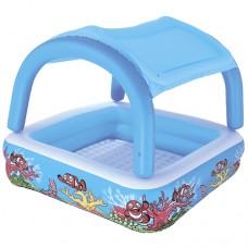 Надувной бассейн детский Bestway 52192, 147 х 122 см, голубой