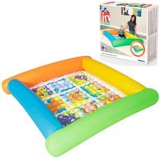 Надувной бассейн детский Bestway 52240, 132 х 132 х 23 см, разноцветный