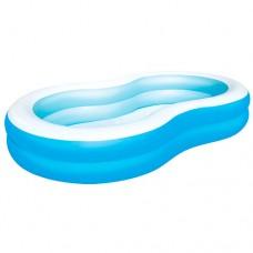 Надувной бассейн детский Bestway 54117 Голубая лагуна, 262 х 157 х 46 см, голубой