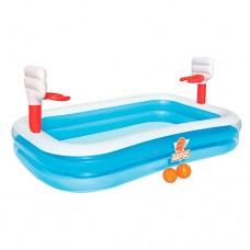 Надувной бассейн детский Bestway 54122 Семейный, Баскетбол, 254 х 168 х 102 см
