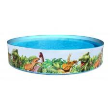 Каркасный бассейн детский Bestway 55001 Динозаврики, 244 x 46 см, голубой