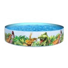 Каркасный бассейн детский Bestway 55022 Динозаврики, 183 x 38 см, голубой