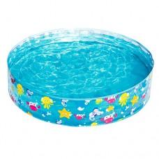 Каркасный бассейн детский Bestway 55028 Подводный мир, 122 x 25 см, голубой