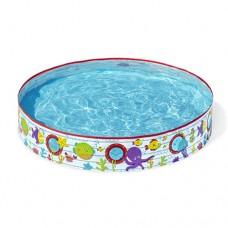 Каркасный бассейн детский Bestway 55029 Подводный мир, 152 x 25 см, голубой