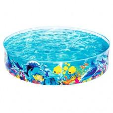 Каркасный бассейн детский Bestway 55030 Рыбки, 183 x 38 см, голубой