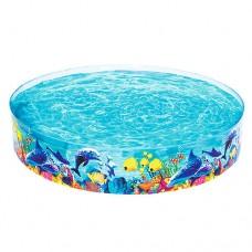 Каркасный бассейн детский Bestway 55031 Рыбки, 244 x 46 см, голубой