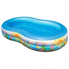 Надувной бассейн детский Intex 56490 Райская Лагуна, 262 х 160 х 46 см, голубой