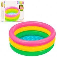 Надувной бассейн детский Intex 57107 Радуга, 61 х 22 см, разноцветный