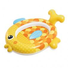 Надувной бассейн детский Intex 57111 Золотая рыбка, 140 х 24 х 34 см, желтый