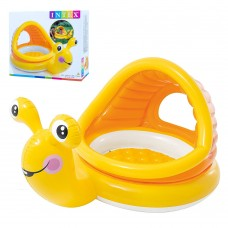 Надувной бассейн детский Intex 57124 Улитка, 145 х 102 х 44 см, желтый
