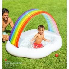 Надувной бассейн детский Intex 57141 Радуга, 142 х 119 х 84 см