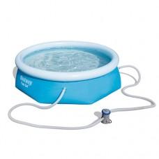 Надувной бассейн семейный Bestway 57268, 244 х 66 см, голубой