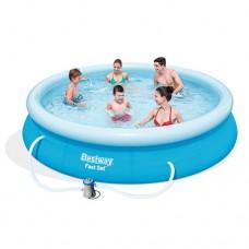 Надувной бассейн семейный Bestway 57274, 366 х 76 см, голубой