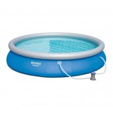 Надувной бассейн семейный Bestway 57313, 457 х 84 см, синий