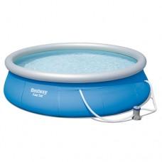 Надувной бассейн семейный Bestway 57321, 396 х 84 см, голубой