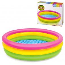 Надувной бассейн детский Intex 57412 SUNSET GLOW, 114 х 25 см, разноцветный