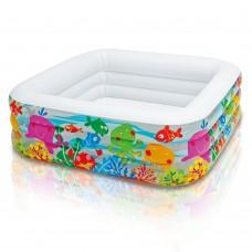 Надувной бассейн детский Intex 57471 Аквариум, 159 х 50 см, разноцветный