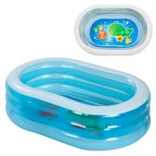 Надувной бассейн детский Intex 57482 Морские друзья, 163 х 170 х 46 см, голубой