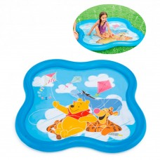 Надувной бассейн детский Intex 58433 Винни Пух, 140 х 140 х 10 см, голубой