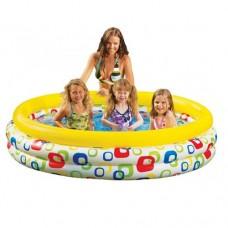 Надувной бассейн детский Intex 58439 Геометрия, 147 х 33 см, желтый