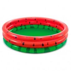 Надувной бассейн детский Intex 58448 Арбуз, 168 х 38 см, красно-зеленый