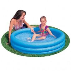 Надувной бассейн детский Intex 59416 Кристал, 114 х 25 см, синий