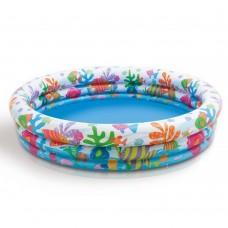 Надувной бассейн детский Intex 59431 Кораллы, 132 х 28 cм, разноцветный