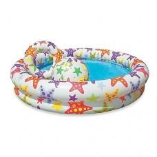 Надувной бассейн детский Intex 59460, 112 х 25 см, разноцветный