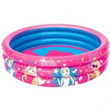 Надувной бассейн детский Bestway 93205 Барби, 122 х 30 см, розовый